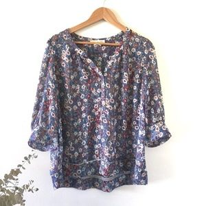 Staring at Stars | Sheer Floral Blouse UO Size M